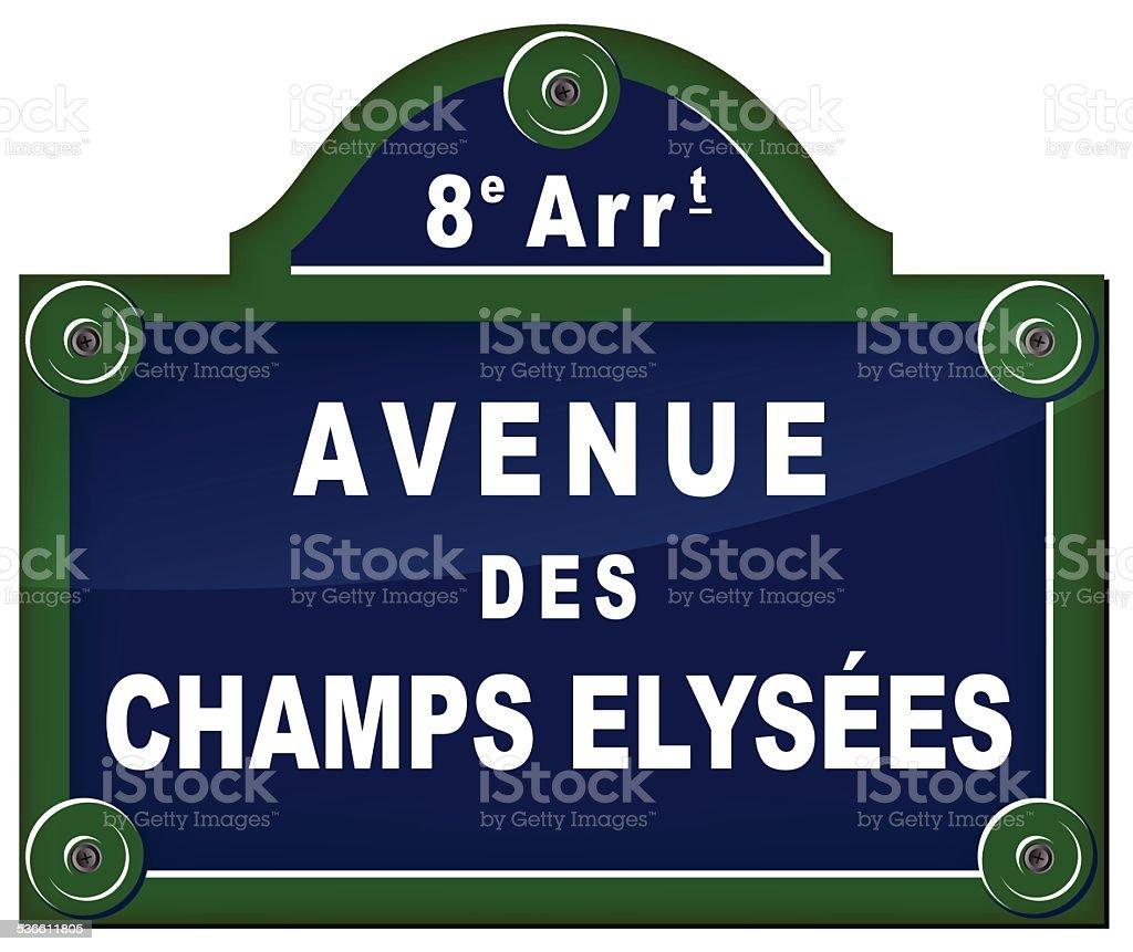 paris avenue señal - ilustración de arte vectorial