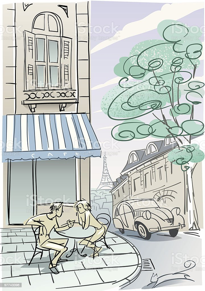 Paris Cafe royalty-free stock vector art
