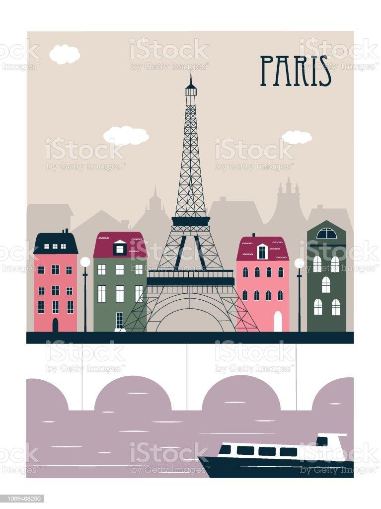 Paris Stad Frankrike Vektorgrafik Och Fler Bilder Pa Arkitektur Istock