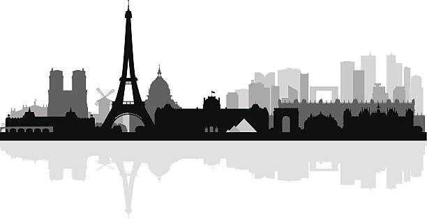 bildbanksillustrationer, clip art samt tecknat material och ikoner med paris city skyline silhouette background - paris
