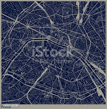 Paris city structure illustration