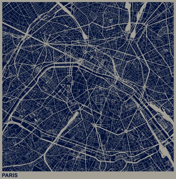 巴黎城市結構圖 - 圖畫 藝術品 幅插畫檔、美工圖案、卡通及圖標
