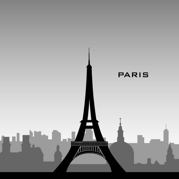 Paris Cityscape Vector Art Illustration