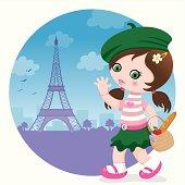 Girl in Paris.