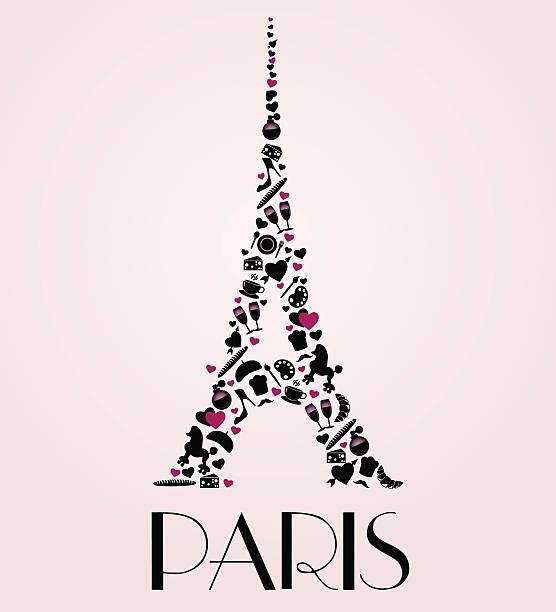 Paris decorational poster. vector art illustration