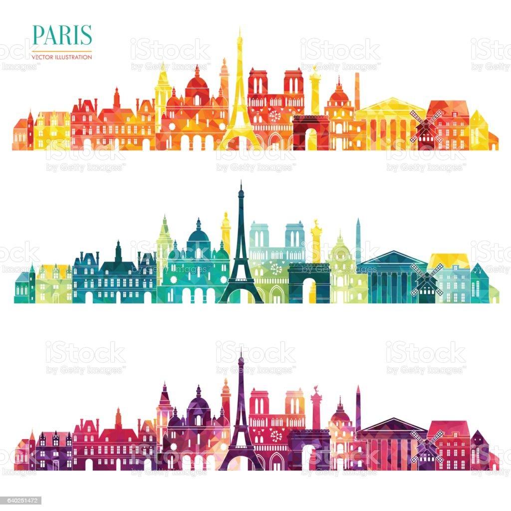 Paris detailed skyline. Vector illustration vector art illustration
