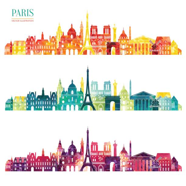 Paris detailed skyline. Vector illustration Paris detailed skyline. Vector illustration loon bird stock illustrations