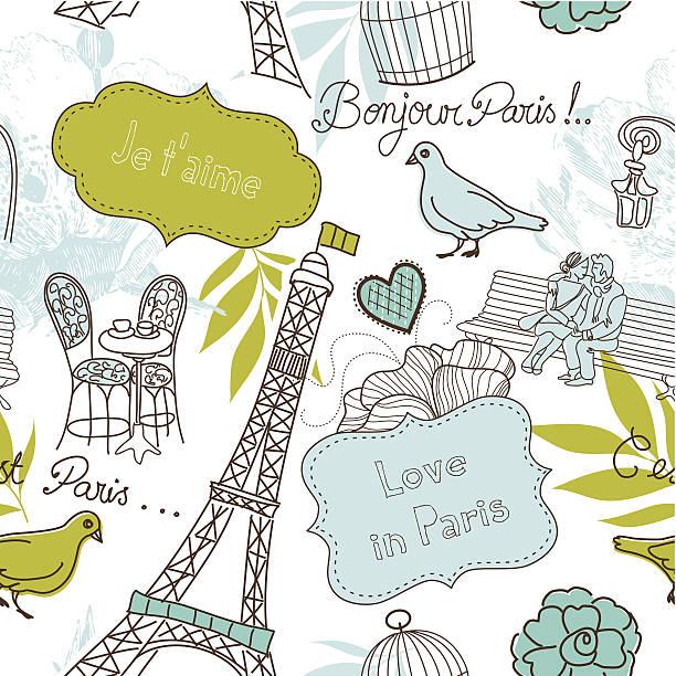 Paris Doodle vector art illustration