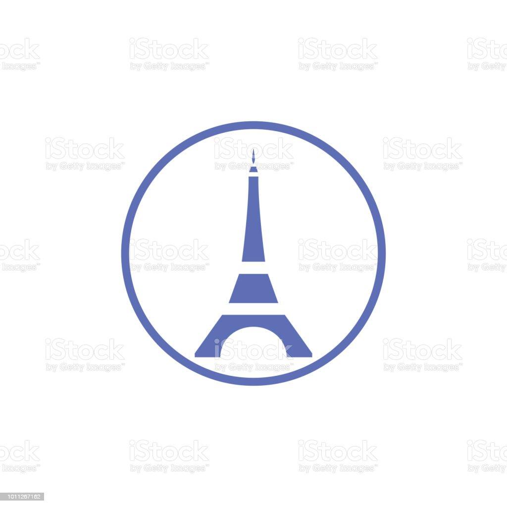 Paris Eiffel Tower Logo Design Template Stock Vector Art & More ...