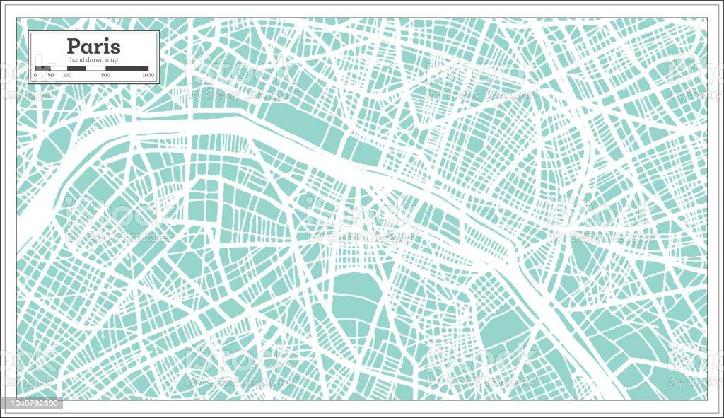Karte Paris Stadtplan.Paris Frankreich Stadtplan Im Retrostil Der Umriß Stock Vektor Art