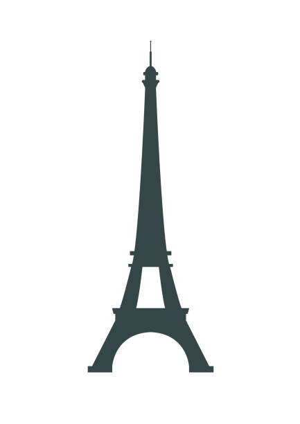 Paris France Eiffel tower icon Paris France Eiffel tower vector icon isolated on white background eiffel tower stock illustrations