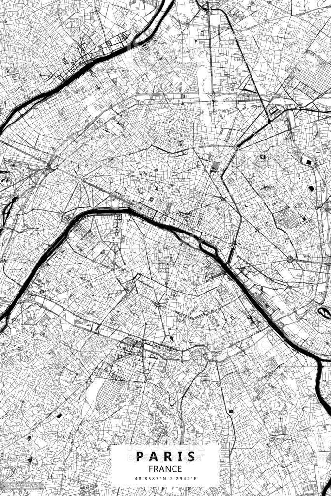 Carte Vectorielle De Paris France Vecteurs libres de ...
