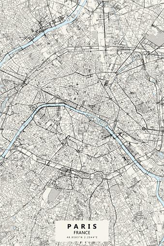 Paris, France Vector Map