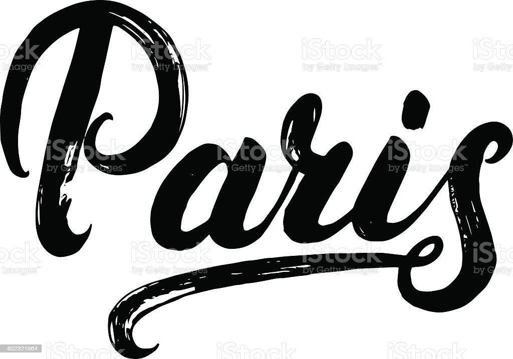 Paris hand written calligraphy lettering stock vector art more