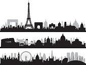 Paris, Rome, and London, All Buildings Are Complete and Moveable.
