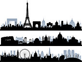 Paris, Rome and London. All buildings are highly detailed, complete and moveable.