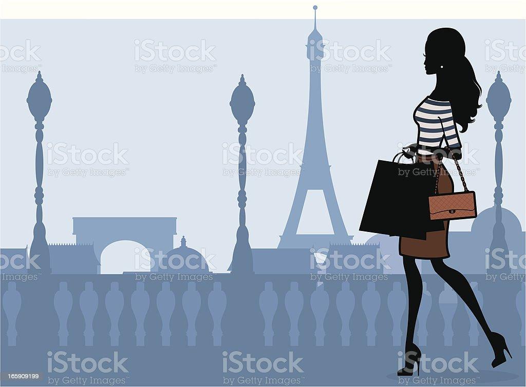 Compras de Paris - ilustração de arte em vetor