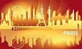 Paris skyline vector 20