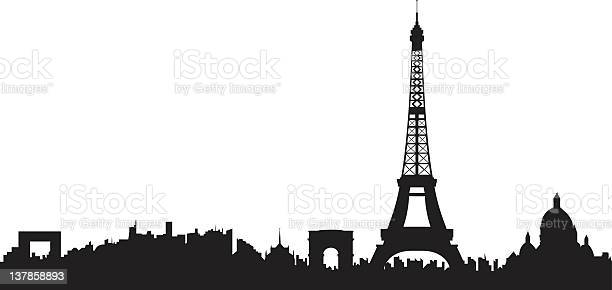 Paris Skyline Stock Illustration - Download Image Now