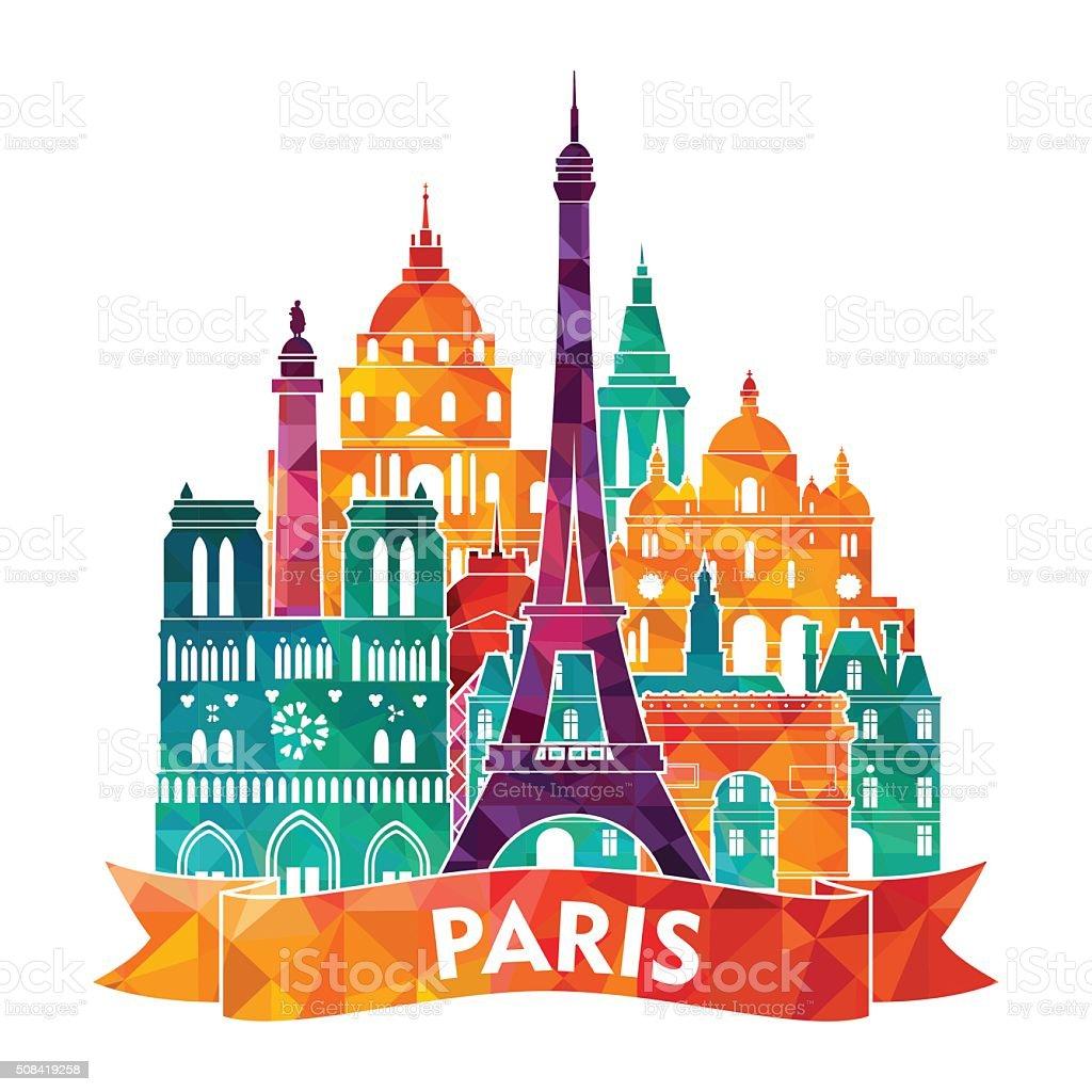 Paris Illustration: Paris Skyline Vector Illustration Stock Vector Art & More