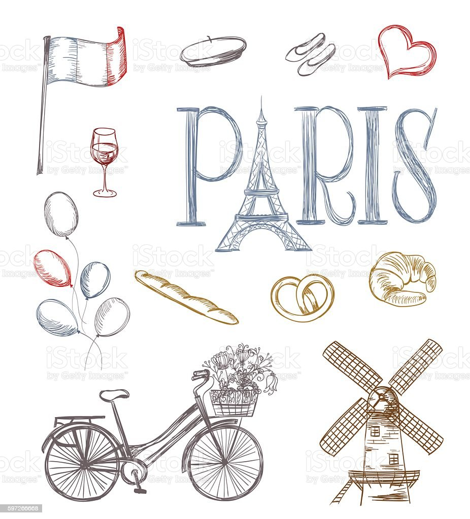 paris symbols royalty-free paris symbols stock vector art & more images of arts culture and entertainment