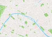 Paris vector city map