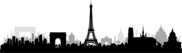bildbanksillustrationer, clip art samt tecknat material och ikoner med paris (alla byggnader är komplett och rörliga) - paris