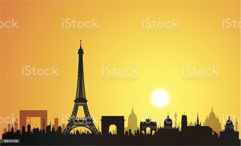 Paris (Buildings Are Detailed, Moveable and Complete) royalty-free paris stock vector art & more images of arc de triomphe - paris