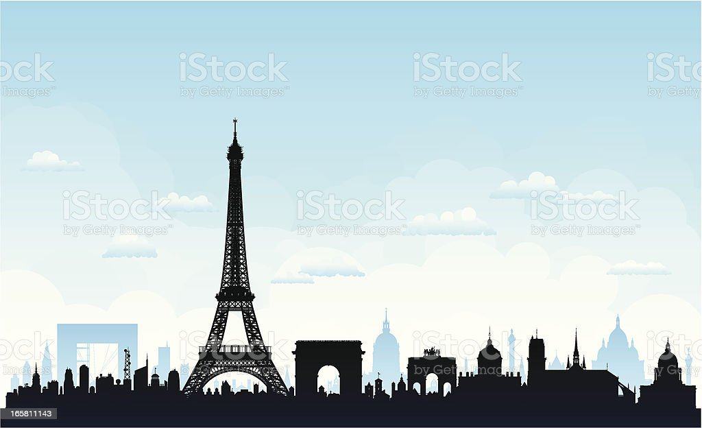 Paris (Buildings Are Detailed, Moveable and Complete) royalty-free stock vector art