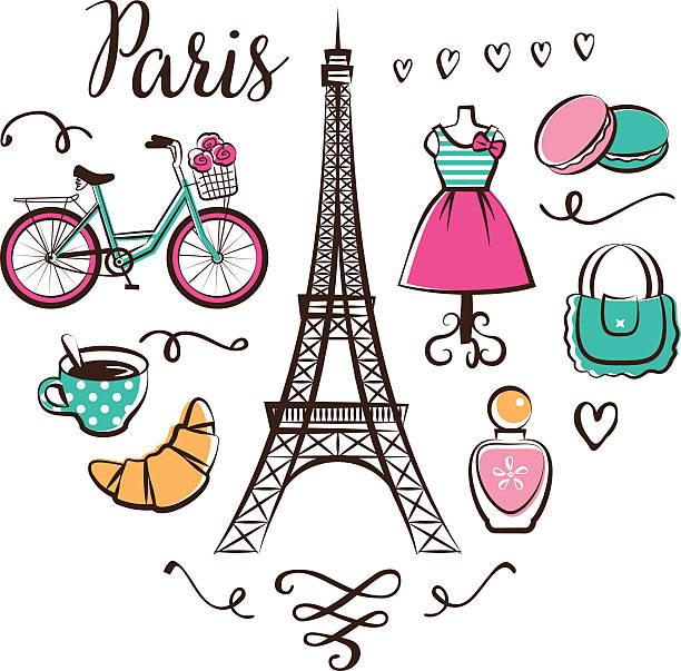 Paris Illustration: Top 60 Paris Fashion Clip Art, Vector Graphics And