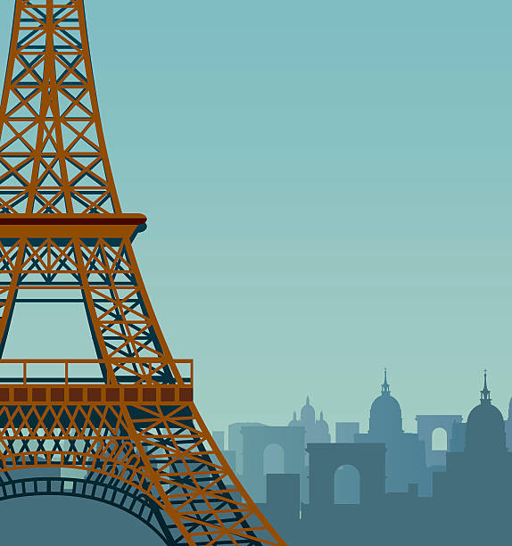 Paris Vector Paris eiffel tower stock illustrations
