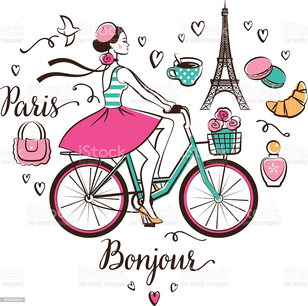 Paris vector art illustration