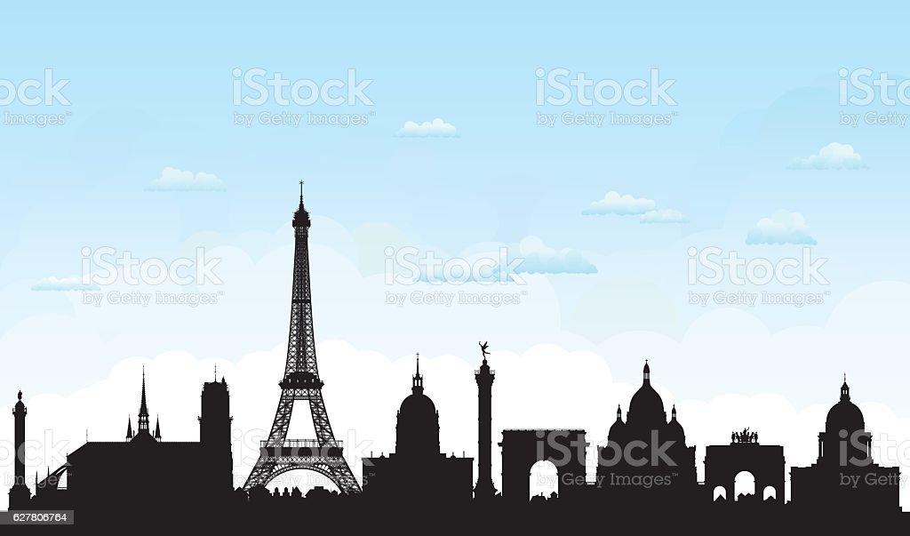 Paris (tous les bâtiments sont détaillées, tablettes et complètes - Illustration vectorielle