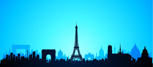 Paris (All Buildings Are Complete and Moveable) Paris, France. All buildings are complete and moveable. eiffel tower stock illustrations