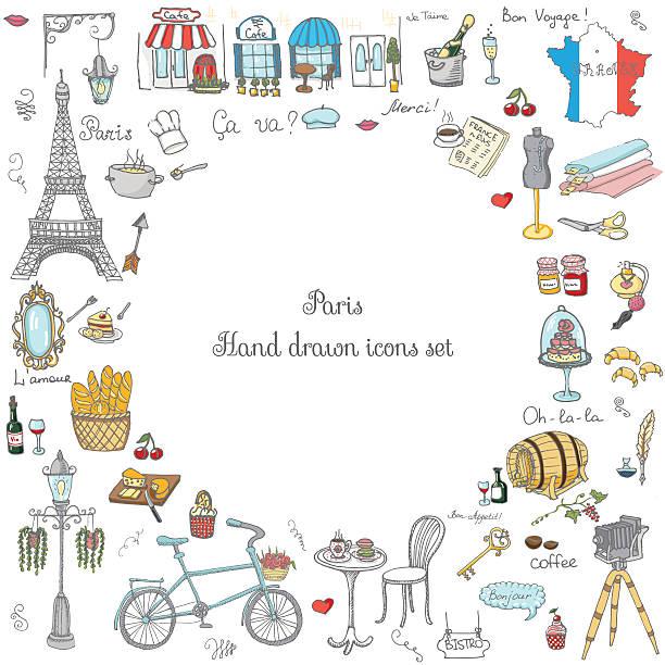 paris_set - フランス料理点のイラスト素材/クリップアート素材/マンガ素材/アイコン素材