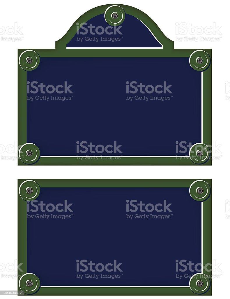 Parisian avenue plates royalty-free stock vector art