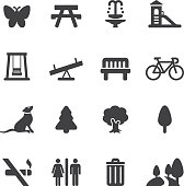 Park and Outdoor Silhouette icons