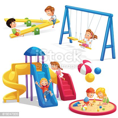 Park And Playground Cartoon Stock Vector Art & More Images ...