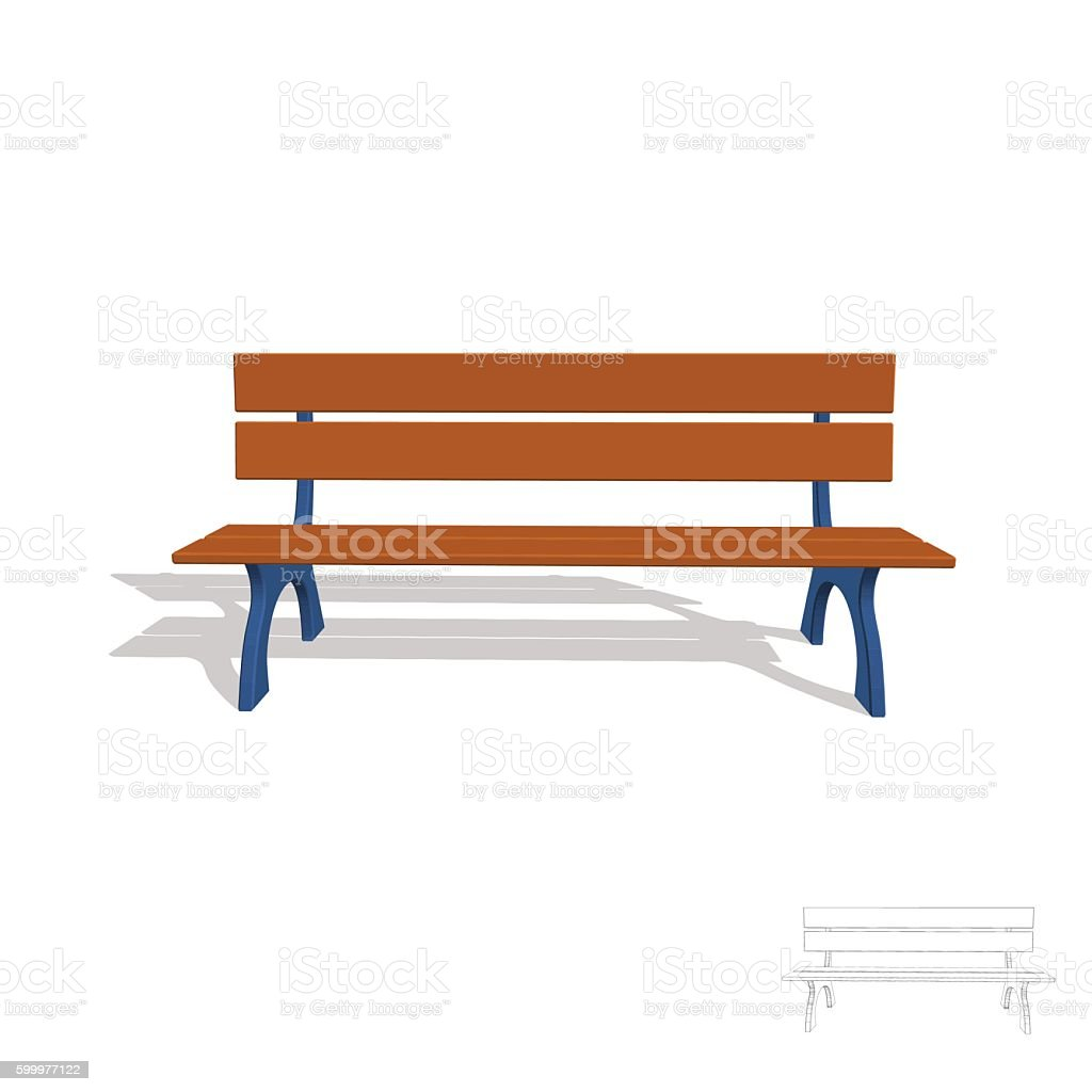 royalty free park bench clip art vector images illustrations istock rh istockphoto com