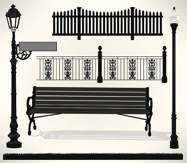 Lobby Bench Clip Art ~ Royalty free park bench clip art vector images