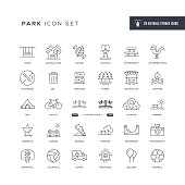 29 Park Icons - Editable Stroke - Easy to edit and customize - You can easily customize the stroke with