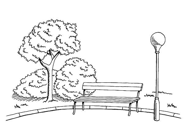 Best Park Bench Illustrations, Royalty-Free Vector