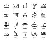 Park Icon Set - Thin Line Series