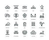 Park Icons - Line Series