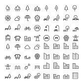 Park Icons Set Vector illustration