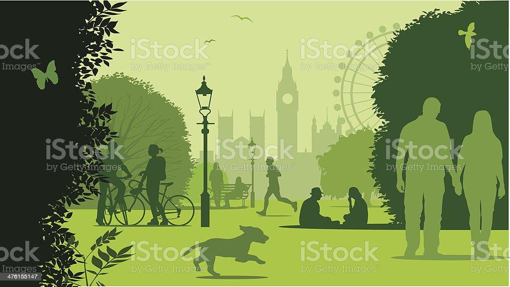 Park life London royalty-free stock vector art