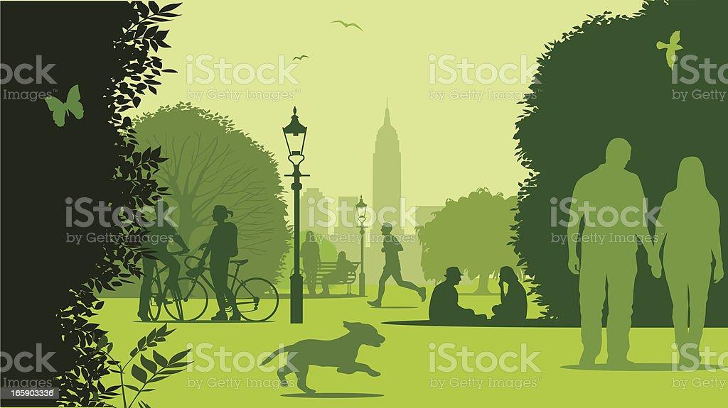 Park life - New York vector art illustration