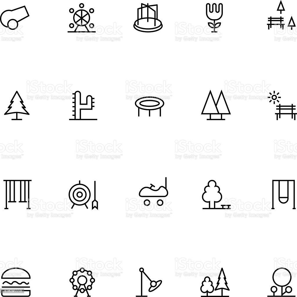 Parque de Vector de iconos de 2 - ilustración de arte vectorial