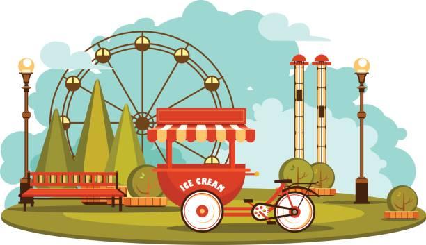 公園のエンターテインメントを提供し - ガーデンパーティ点のイラスト素材/クリップアート素材/マンガ素材/アイコン素材
