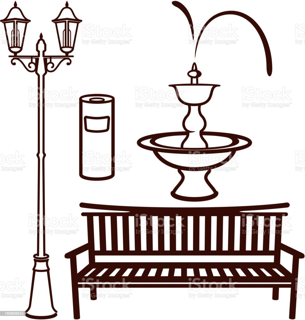 park settings royalty-free stock vector art